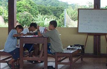 Boys studying at El Camino