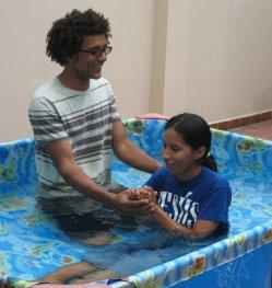 Heidy's baptism